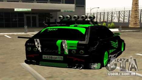 VAZ 2114 DTM GTR TURBO SPORTS AMG para GTA San Andreas traseira esquerda vista