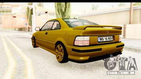 Rover 220 Gold Edition para GTA San Andreas esquerda vista