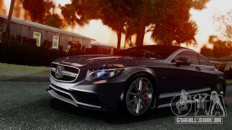 Mercedes-Benz S-Class Coupe AMG para GTA San Andreas esquerda vista
