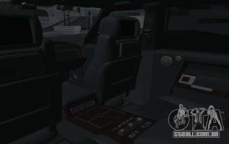 Land Rover Range Rover Vogue para vista lateral GTA San Andreas
