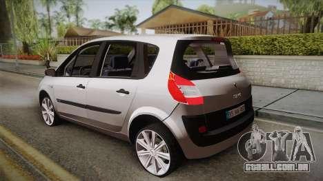 Renault Scenic II para GTA San Andreas esquerda vista