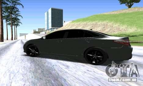Toyota Camry para GTA San Andreas traseira esquerda vista