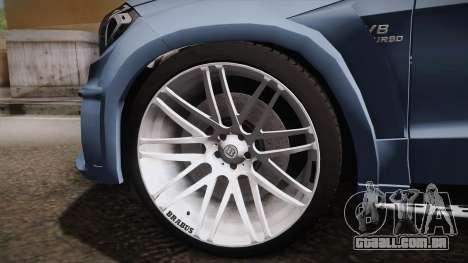 Mercedes-Benz GL63 Brabus para GTA San Andreas vista traseira