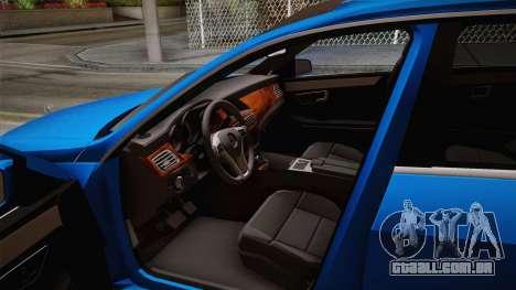 Mercedes-Benz W212 E-class para GTA San Andreas vista traseira