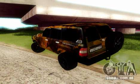 Toyota Land Cruiser 105 para GTA San Andreas vista interior