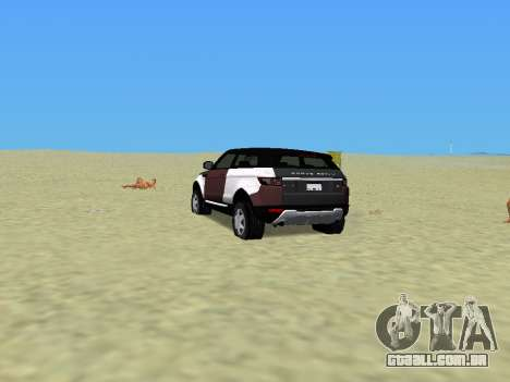 Range Rover Evoque para GTA Vice City deixou vista