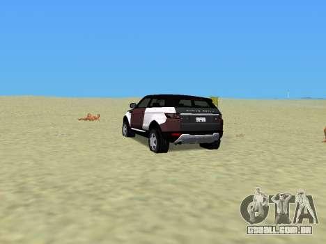 Range Rover Evoque para GTA Vice City deixou vista