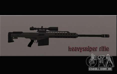 Heavysniper rifle para GTA San Andreas