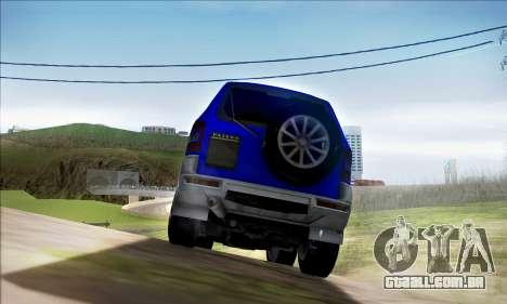 Mitsubishi Pajero 3 Beta para GTA San Andreas vista direita