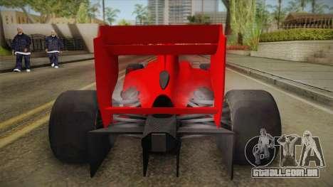 Lotus F1 T125 para GTA San Andreas vista traseira