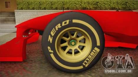 Lotus F1 T125 para GTA San Andreas traseira esquerda vista