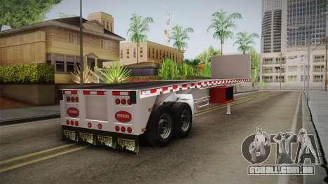 Trailer Americanos v1 para GTA San Andreas esquerda vista