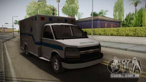 Chevrolet Express 2011 Ambulance para GTA San Andreas vista direita