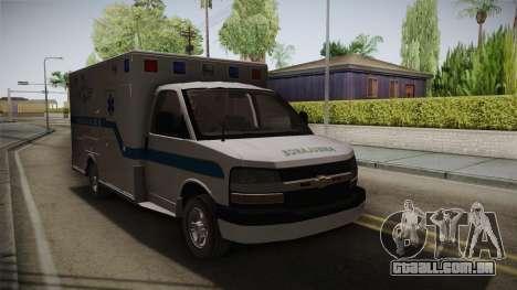 Chevrolet Express 2011 Ambulance para GTA San Andreas vista direita