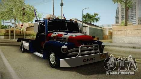GMC 4100 1950 GRUA para GTA San Andreas traseira esquerda vista