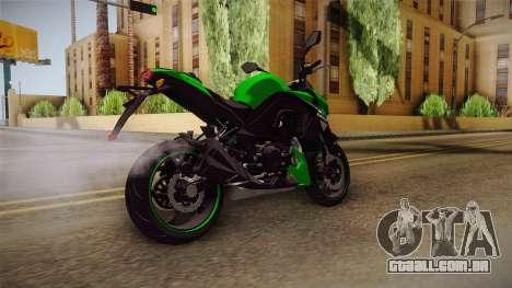 Kawasaki Z1000 para GTA San Andreas traseira esquerda vista