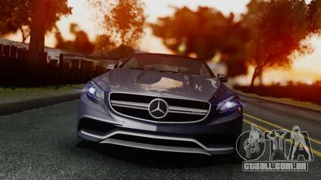 Mercedes-Benz S-Class Coupe AMG para GTA San Andreas vista direita