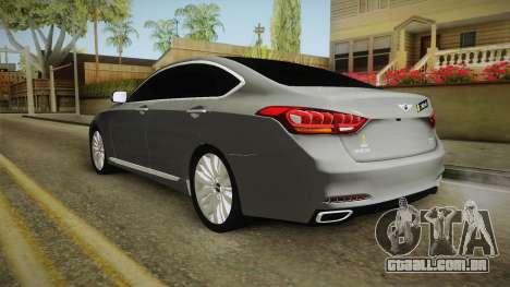 Hyundai Genesis 2016 v1.2 para GTA San Andreas traseira esquerda vista