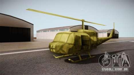 Bell UH-1H from Army Men: Serges Heroes 2 DC para GTA San Andreas vista direita