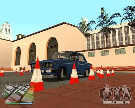 O circuito, como na escola de condução para GTA San Andreas