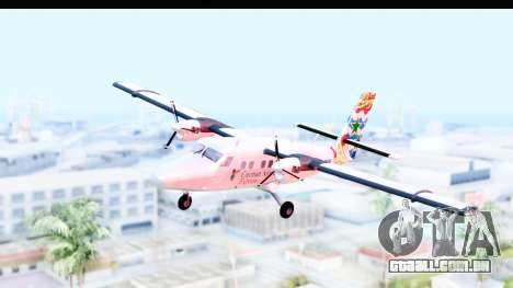 DHC-6-400 Cayman Airways para GTA San Andreas traseira esquerda vista