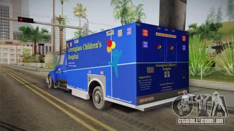 International Terrastar Ambulance 2014 para GTA San Andreas esquerda vista