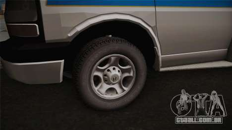 Chevrolet Express 2011 Ambulance para GTA San Andreas vista traseira