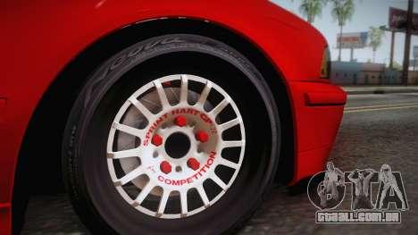 BMW 530d E39 Red Black para GTA San Andreas traseira esquerda vista