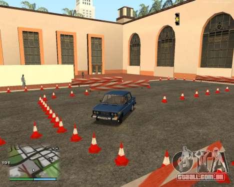 O circuito, como na escola de condução para GTA San Andreas oitavo tela
