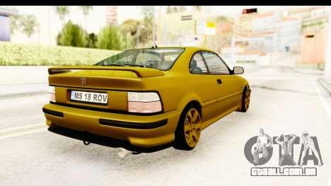 Rover 220 Gold Edition para GTA San Andreas vista direita