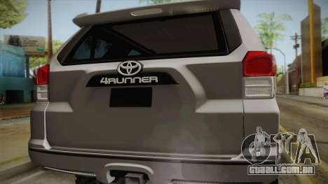 Toyota 4runner 2010 para GTA San Andreas vista direita