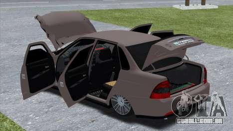 Lada Priora Brodyaga para GTA San Andreas traseira esquerda vista