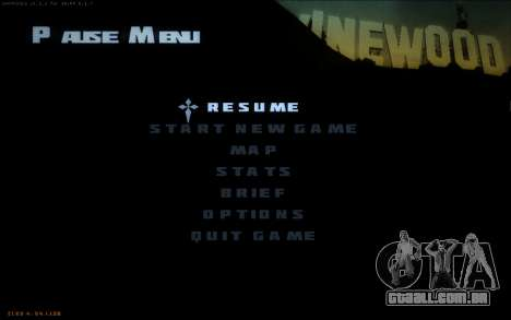 New Fonts para GTA San Andreas segunda tela