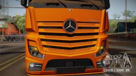 Mercedes-Benz Actros Mp4 4x2 v2.0 Steamspace para GTA San Andreas vista traseira