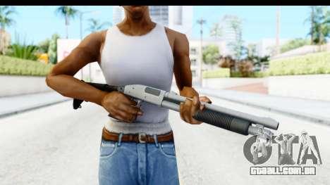 Tactical Mossberg 590A1 Chrome v2 para GTA San Andreas terceira tela