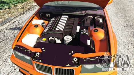 GTA 5 BMW 328i (E36) M-Sport v1.1 [replace] traseira direita vista lateral
