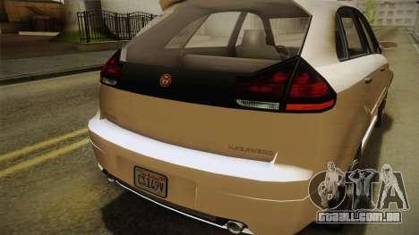 GTA 5 Emperor Habanero IVF para GTA San Andreas vista superior