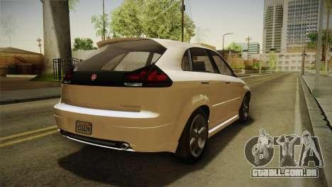 GTA 5 Emperor Habanero IVF para GTA San Andreas traseira esquerda vista