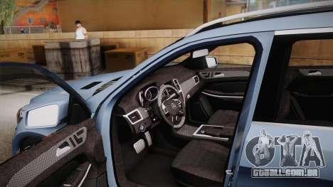 Mercedes-Benz GL63 Brabus para GTA San Andreas vista interior