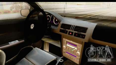 Volkswagen Bora Pickup para GTA San Andreas vista interior