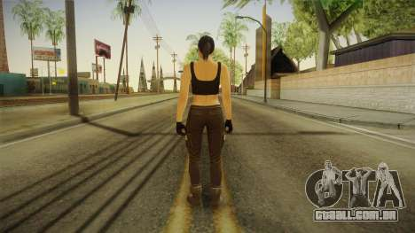 GTA 5 Heists DLC Female Skin 2 para GTA San Andreas terceira tela