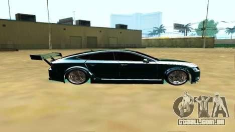 AUDI A7 SPORTS para GTA San Andreas esquerda vista