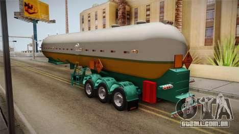 Trailer Brasil v1 para GTA San Andreas traseira esquerda vista