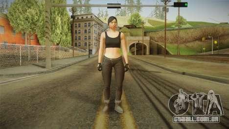 GTA 5 Heists DLC Female Skin 2 para GTA San Andreas segunda tela