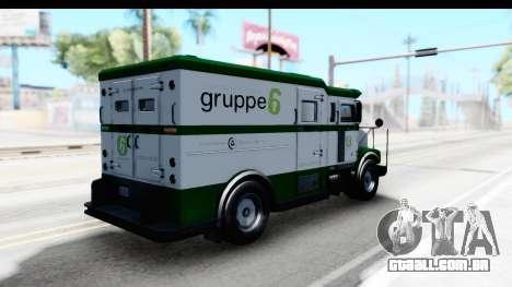 GTA 5 Stockade v1 IVF para GTA San Andreas traseira esquerda vista