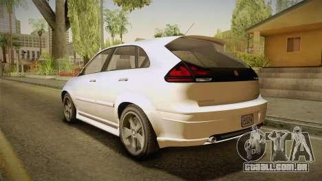 GTA 5 Emperor Habanero IVF para GTA San Andreas esquerda vista