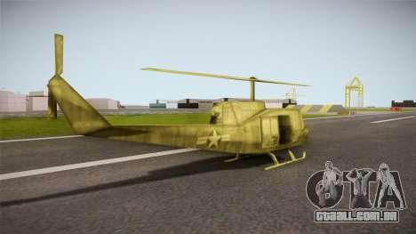 Bell UH-1H from Army Men: Serges Heroes 2 DC para GTA San Andreas esquerda vista