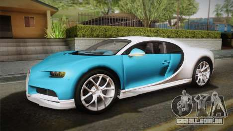 Bugatti Chiron 2017 v2.0 Italian Plate para GTA San Andreas vista traseira