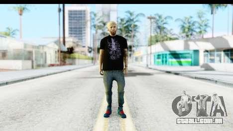 Blonde Messi para GTA San Andreas segunda tela
