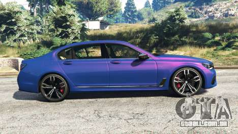 GTA 5 BMW 750i xDrive M Sport (G11) [add-on] vista lateral esquerda